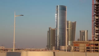 City of Lights complex at Al Reem Island in Abu Dhabi, UAE. Abu Dhabi - capital and second most populous city in United Arab Emirates after Dubai, and also capital of Abu Dhabi emirate