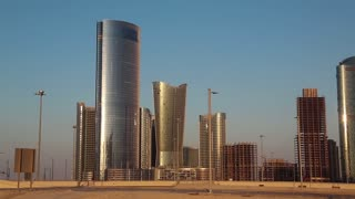City of Lights complex on Al Reem Island in Abu Dhabi, United Arab Emirates. Abu Dhabi - capital and 2nd most populous city in United Arab Emirates, after Dubai, and also capital of Abu Dhabi emirate