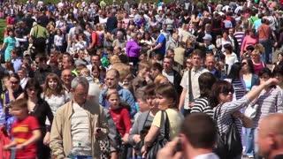 City street crowd. Crowd of people