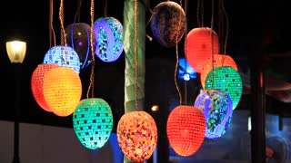 Coloured pendent lamps