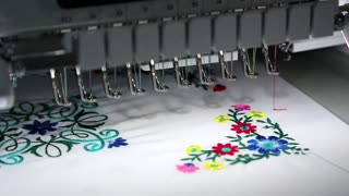 Computer programmable embroidery machine
