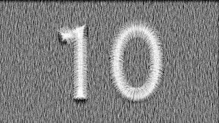 Countdown video stock footage