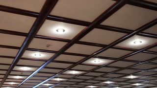 Counter ceiling with energy saving lamps