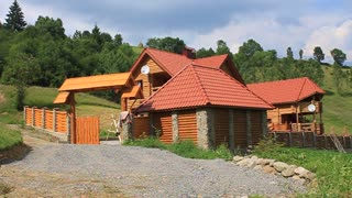 Country house in Carpathian Mountains