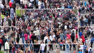 Crowd of people montage