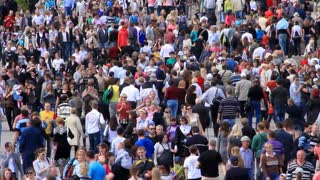 Crowd of people. Timelapse