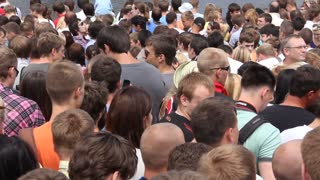 Crowd of people video stock footage