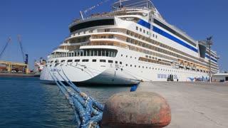 Cruise ship in port, Antalya, Turkey