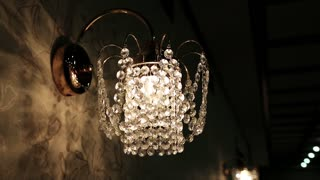 Crystal sconce video stock footage