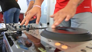 Disc jockey video stock footage