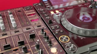 DJ console video stock footage