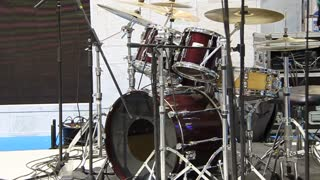 Drums on stage video stock footage