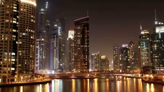 Dubai Marina (United arab emirates) - the largest man-made marina in the world. Dubai Marina - is a district in the heart of what has become known as New Dubai. Dubai Marina is a canal city carved along a 3 km stretch of Persian Gulf shoreline
