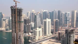 Dubai Marina (United arab emirates) - the largest man-made marina in the world. Dubai Marina - is a district in the heart of what has become known as New Dubai. Dubai Marina is a canal city carved along a 3 km stretch of Persian Gulf shoreline.