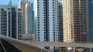 Dubai metro, United Arab Emirates. Dubai Marina - district in heart of what has become known as New Dubai. Dubai Marina - the largest man-made marina in the world