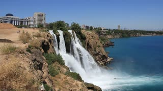 Duden waterfall in Antalya, Turkey