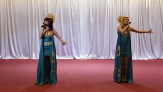 Duet. Two woman on stage