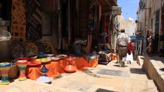 Eastern market. Marketplace in medina, Tunisia, Sousse
