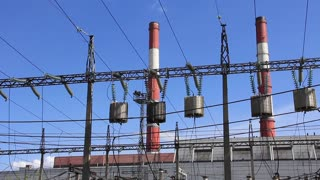Electric equipments on heat electropower station outdoor switchgear