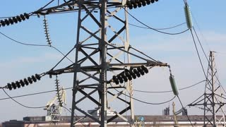Electric lines. Urban district electrification