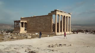 Erechtheion or Erechtheum is an ancient Greek temple in Acropolis of Athens in Greece which was dedicated to both Athena and Poseidon