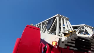 Fire-engine with big fire escape staircase