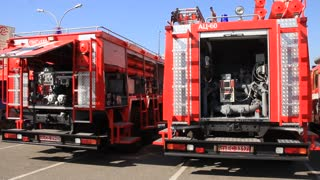 Fire engines video stock footage