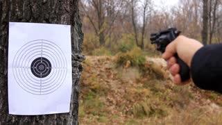 Firing on a target