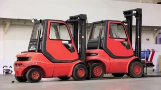 Forklift loaders inside the storage room