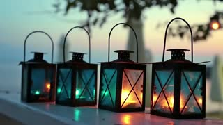Four candle lamps