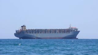 Freighter - big cargo boat at sea