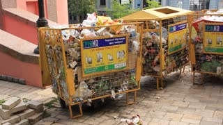Garbage bins video stock footage