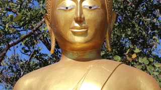 Golden Buddha statue on Pratumnak Hill in Pattaya, Thailand