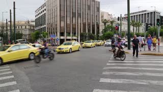 GREECE, ATHENS, JUNE 7, 2013: Road traffic in Athens, Greece