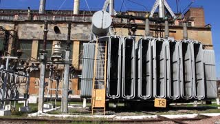 Heat electropower station with transformer on outdoor switchgear