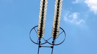 High-voltage insulator on heat electropower station