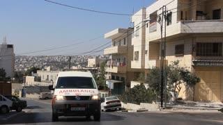 Holy Land. Bethlehem. Palestinian National Authority. Ambulance car
