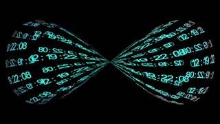 Information infinity. Blue digits on black background