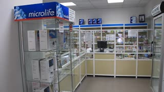 Inside drug store