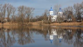 Intercession Cathedral erected in 1622-1629 in Sulimovka village, Kiev region, Ukraine