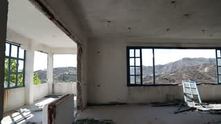 Interior of an abandoned hotel