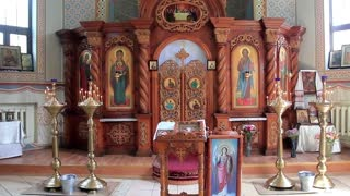 Interior of small orthodox church