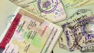 International passports with visas (USA, Egypt, Thailand and Shengen visas)