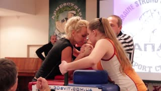 KIEV - JANUARY 31: Arm wrestling competition Kiev Armwrestling Championship 2011 on January 31 2011 in Kiev, Ukraine.