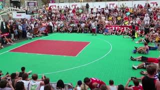 KIEV, UKRAINE, AUGUST 24, 2012: Final Ukrainian streetball league on Khreschatyk street dedicated to celebrating Independence Day in Kiev, Ukraine, August 24, 2012.