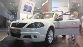 "KIEV, UKRAINE, MAY 26, 2011: Brilliance Cross at yearly automotive-show ""SIA 2011""."