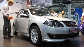 "KIEV, UKRAINE, MAY 26, 2011: Brilliance FSV at yearly automotive-show ""SIA 2011""."