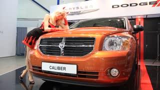 "KIEV, UKRAINE, MAY 26, 2011: Dodge Caliber SXT at yearly automotive-show ""SIA 2011""."