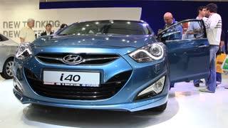 "KIEV, UKRAINE, MAY 26, 2011: Hyundai i40 at yearly automotive-show ""SIA 2011""."