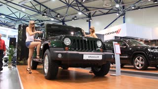 "KIEV, UKRAINE, MAY 26, 2011: Jeep Wrangler at yearly automotive-show ""SIA 2011""."